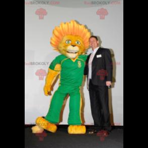 Maskot žlutý lev s květovanou hřívou - Redbrokoly.com