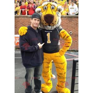 Mascot yellow white and black tiger - Redbrokoly.com