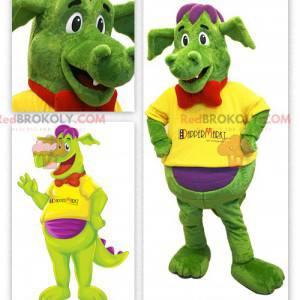 Buntes Dinosaurier-Maskottchen - Redbrokoly.com