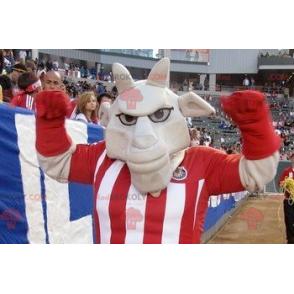 Šedý buvol maskot ve sportovním oblečení - Redbrokoly.com