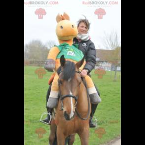 Brown foal horse mascot - Redbrokoly.com