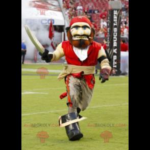 Red and beige pirate mascot - Redbrokoly.com