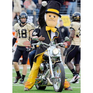 Mascot man in black suit with a top hat - Redbrokoly.com