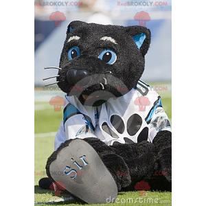 Großes Maskottchen der schwarzen und blauen Katze -
