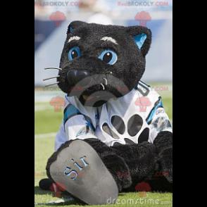 Velký černý a modrý kočka maskot - Redbrokoly.com