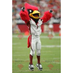 Red black and yellow bird mascot - Redbrokoly.com