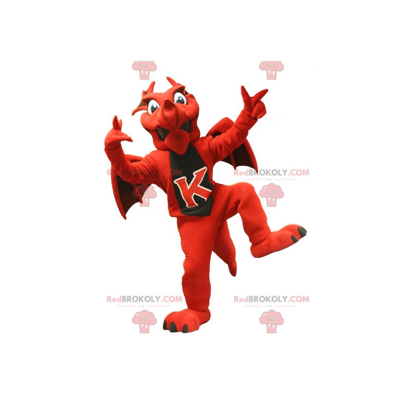 Maskottchen des roten und schwarzen Drachen - Redbrokoly.com