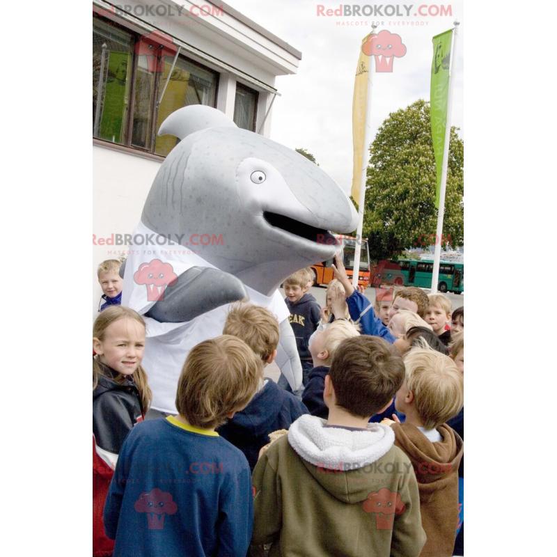 Gray whale dolphin mascot - Redbrokoly.com