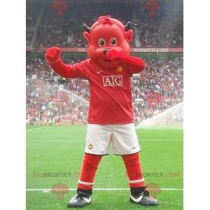Rotbärenmaskottchen in Sportbekleidung - Redbrokoly.com