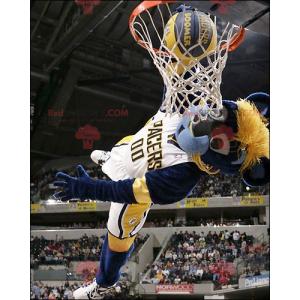 Maskottchen des blauen und gelben Tigers - Redbrokoly.com