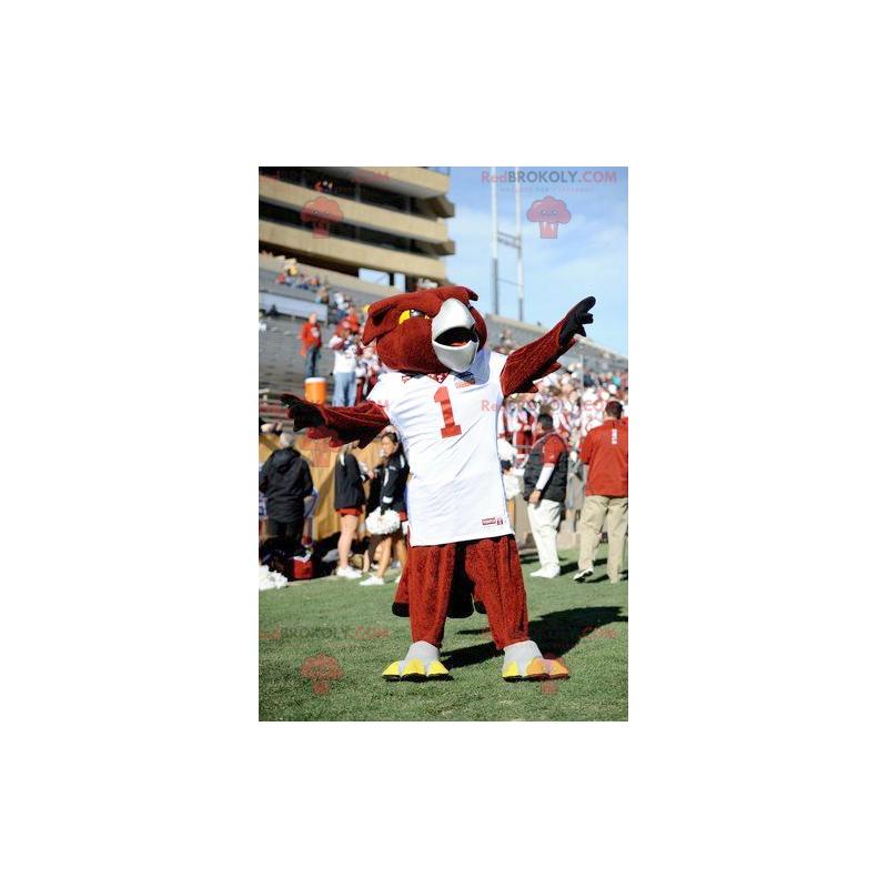 Red eagle bird mascot - Redbrokoly.com