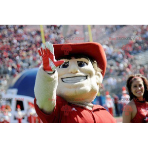 Mascot man with a polo shirt and a red hat - Redbrokoly.com