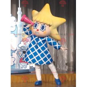 Malá dívka maskot s hlavou ve tvaru hvězdy - Redbrokoly.com