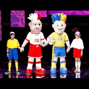 2 colorful fan mascots - Redbrokoly.com