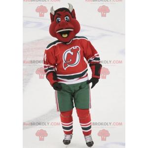 Black and white red devil mascot - Redbrokoly.com