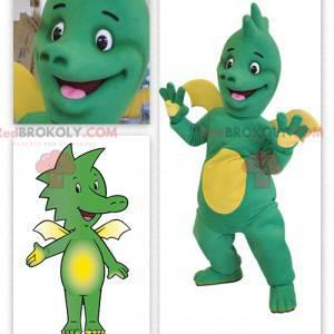 Baby green and yellow dragon mascot - Redbrokoly.com
