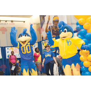 Yellow and blue bird mascot - Redbrokoly.com