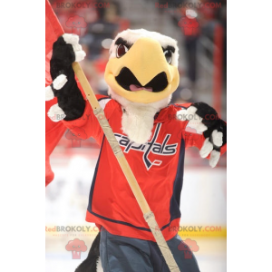 Black and yellow white eagle mascot - Redbrokoly.com