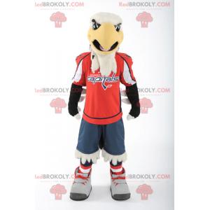 Schwarz-Gelb-Weiß-Adler-Maskottchen - Redbrokoly.com