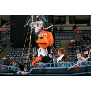 2 mascots: an orange dog and a vacationer boy - Redbrokoly.com
