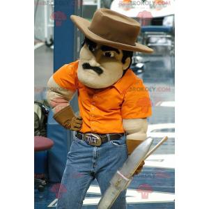 Mascot mustached miner - Redbrokoly.com