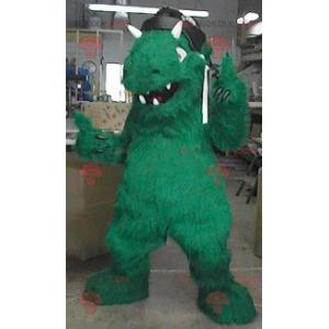 Mascote monstro dinossauro verde - Redbrokoly.com