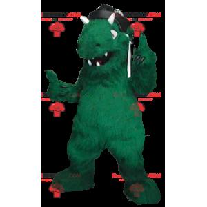 Grünes Dinosaurier-Monster-Maskottchen - Redbrokoly.com