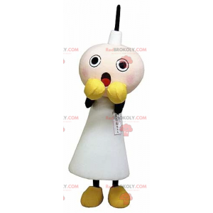 Hvid stearinlys maskot bange - Redbrokoly.com
