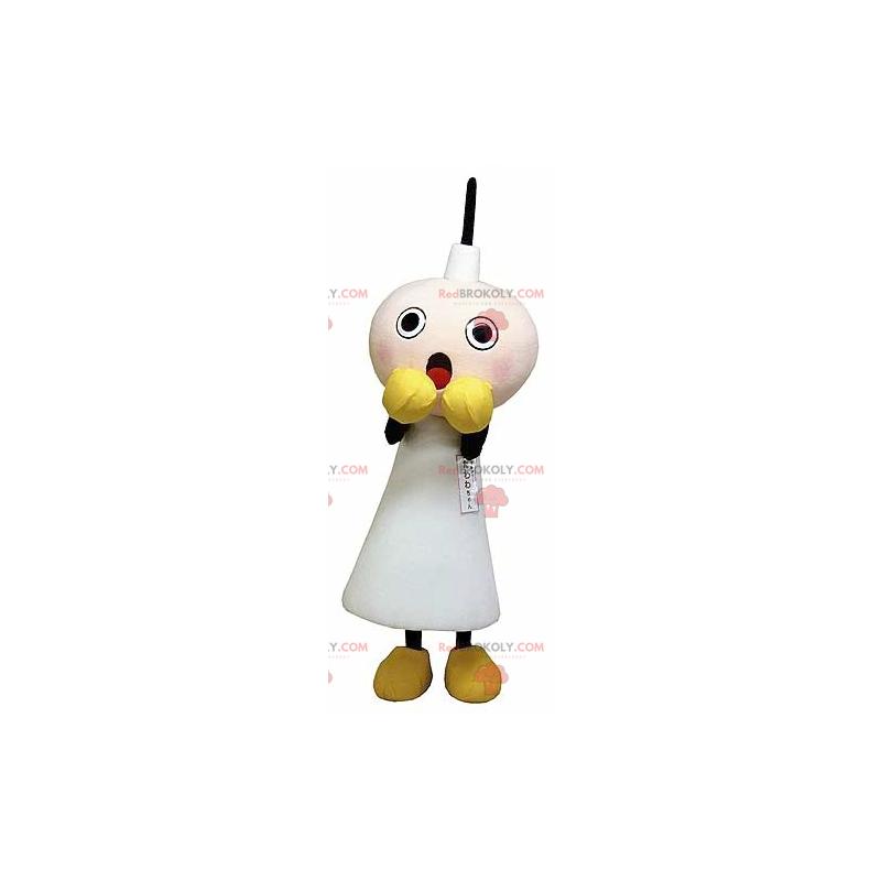 Weiße Kerze Maskottchen Angst - Redbrokoly.com