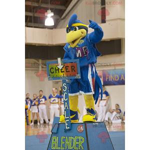 Nieuwe afgestudeerde blauwe vogel mascotte - Redbrokoly.com