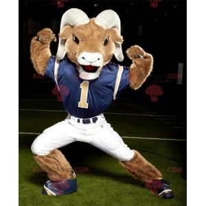 Mascota de carnero marrón y blanco - Redbrokoly.com