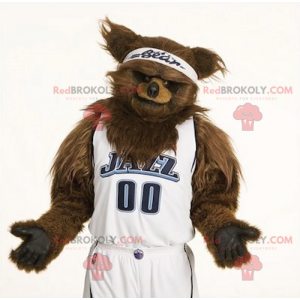 Brown bear mascot all hairy - Redbrokoly.com