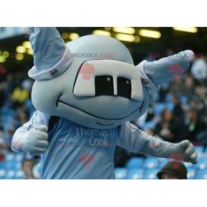 Blue alien mascot - Redbrokoly.com