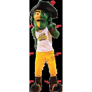 Homem mascote pirata com um grande chapéu - Redbrokoly.com