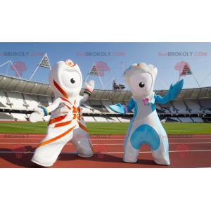 2 außerirdische Maskottchen von den Olympischen Spielen 2012 -