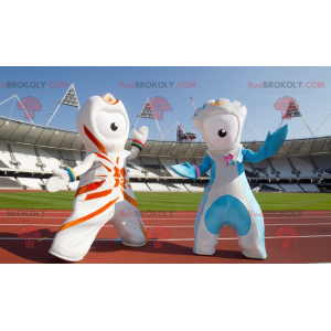 2 fremmede maskotter fra de olympiske lege i 2012 -