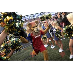 Maskot Lion ve sportovním oblečení - Redbrokoly.com