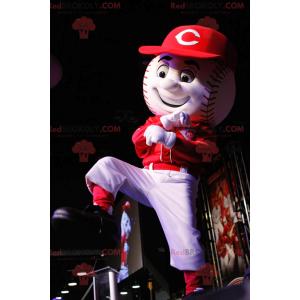 Hvit og rød baseball maskot - Redbrokoly.com