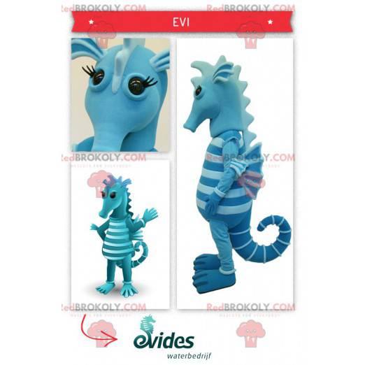 Two-tone blue seahorse mascot - Redbrokoly.com