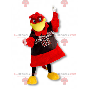 Giant red and yellow bird mascot - Redbrokoly.com