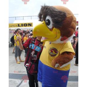 Big bird mascot brown and white sport eagle - Redbrokoly.com