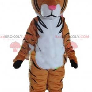 Maskott brun hvit og svart tiger - Redbrokoly.com