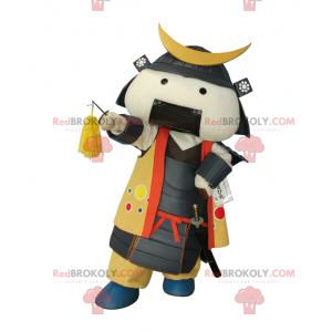 Samurai-Maskottchen in traditioneller Kleidung - Redbrokoly.com