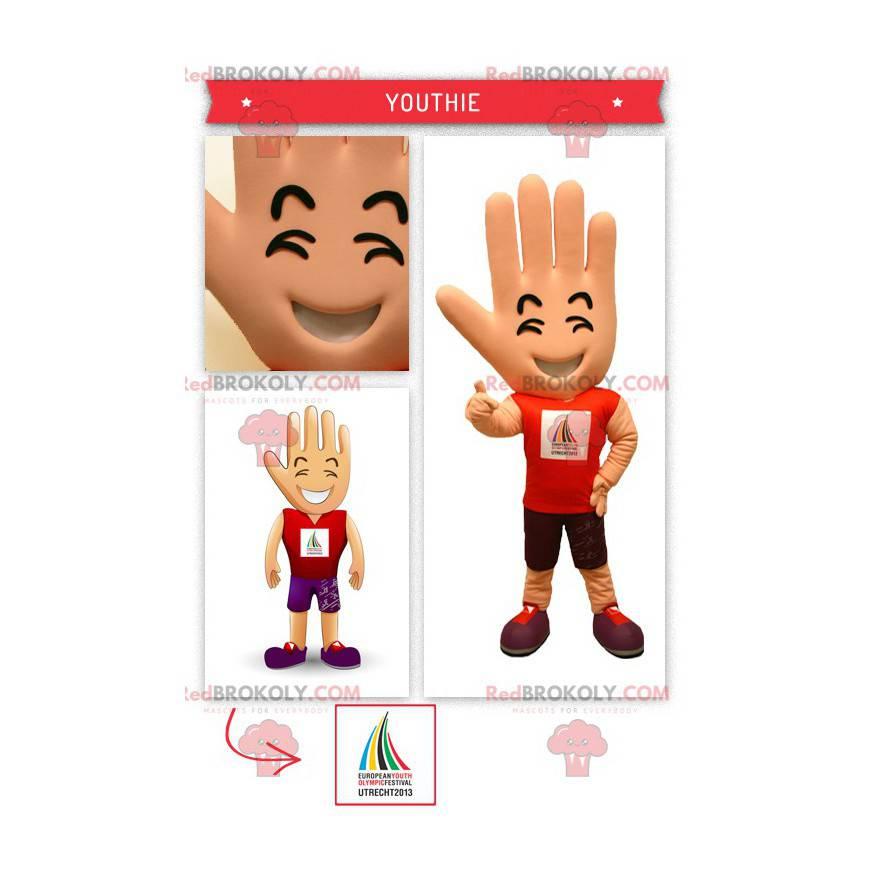 Big giant hand mascot supporter - Redbrokoly.com