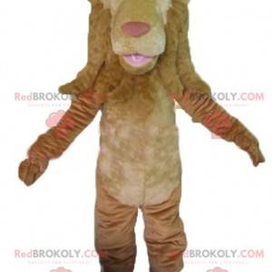 Obří a originální hnědý lev maskot - Redbrokoly.com