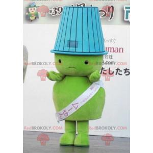 Maskottchen großer grüner Mann mit einem Lampenschirm auf dem