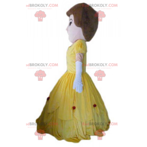 Mascotte prinsesvrouw in gele jurk - Redbrokoly.com