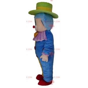 Doce e fofa mascote palhaço multicolorido - Redbrokoly.com