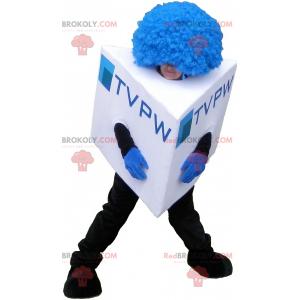 Cube mascot square snowman mascot - Redbrokoly.com