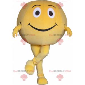 Gigantisk gul ball maskot. Rund maskot - Redbrokoly.com